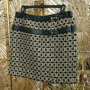 ETCETERA vintage wool buckle skirt